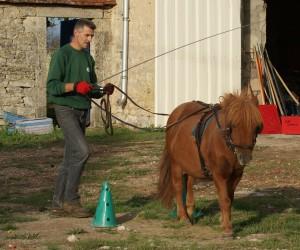 JF suit son poney,  mais les guides qui leur permettent de communiquer ensemble sont lâches et donc sans utilité.